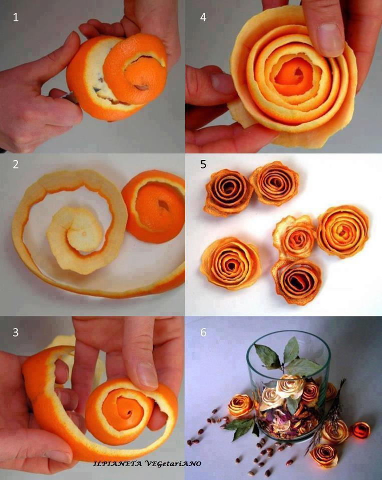 Portakal Kabuğundan Süslemeler Ilginç Fikir
